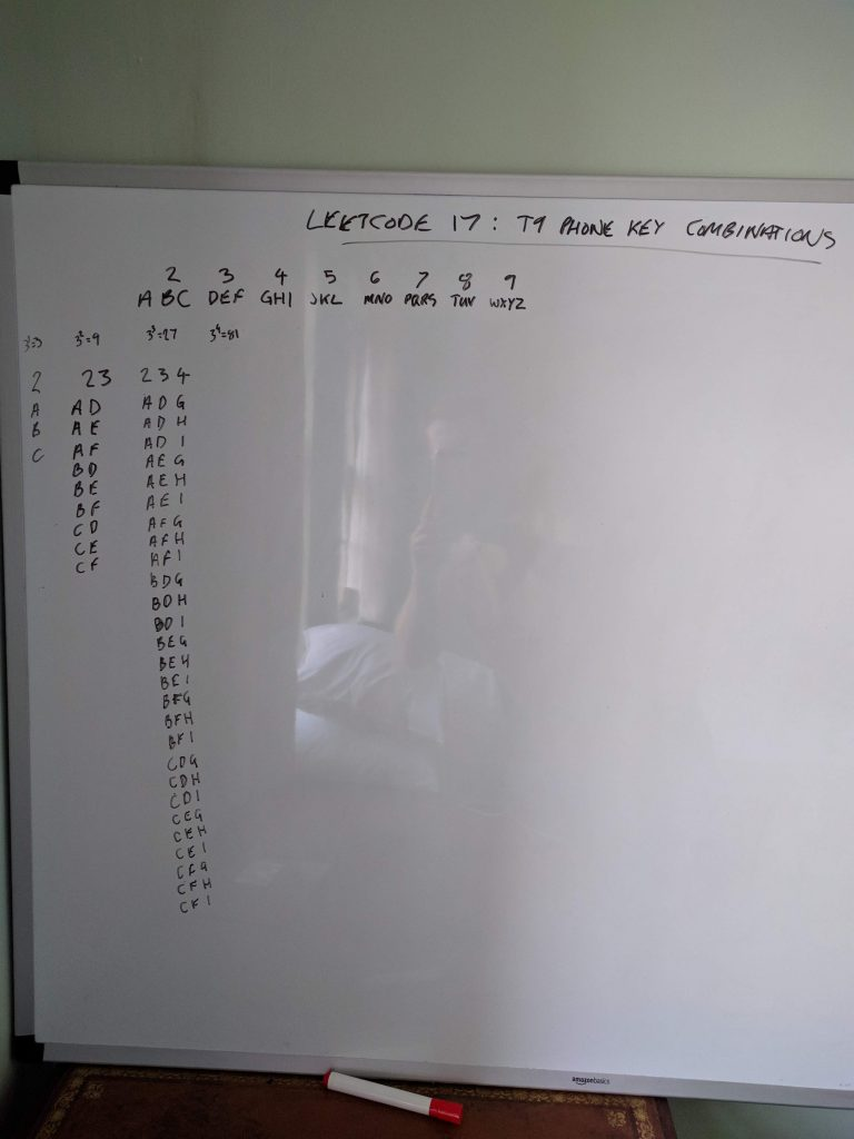 Leetcode 17: Phone key combinations | adamk org